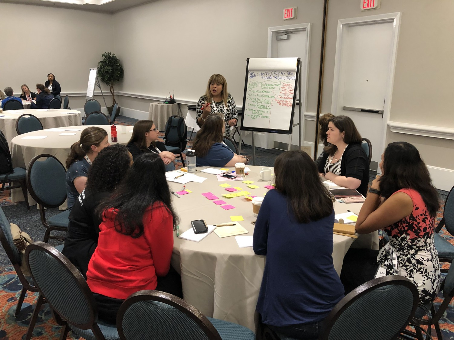 A group of women share ideas at Women Who Test 2019